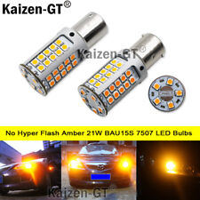 No Resistor No Hyper Flash 21W Amber 7507 PY21W LED Bulbs For Turn Signal Lights