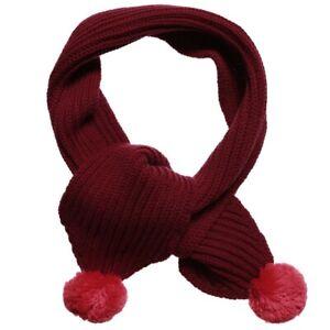 Enfant By Rykiel Kids Wool Scarf 44180810 Bordeaux Burgundy
