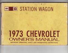 1973 CHEVROLET IMPALA CAPRICE MALIBU WAGON US Owners Manual - Fair Condition