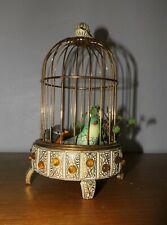 Ancienne Petite cage à oiseau musicale, Automate Vintage musical automatisé