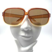 Vintage Yellow Brown Transparent Oval Sunglasses Frames