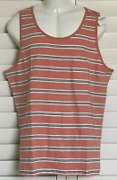 Men's Arizona Jean Co.Tank Striped Top Shirt w Chest Pocket XXL Cotton 2XL NWT