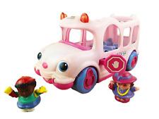 Little People - Little Movers Pink School Bus Bundle 2x Figures