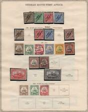 GERMAN NEW GUINEA/GERMANY SW AFRICA - Ex-Old Time Collection - 2 Sides (35768)