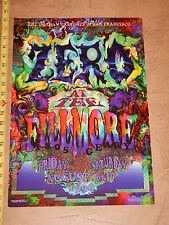 1996 Zero Bill Graham The Filmore San Francisco Concert Poster