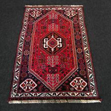 Orient Teppich Dunkelrot 154 x 103 cm Perserteppich Handgeknüpft Carpet Tappeto