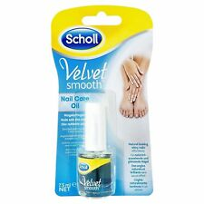 Scholl Velvet Smooth Nail Care Oil 7.5ml- Natural looking shiny nails *UK SELLER
