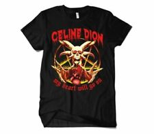 Celine Dion My Heart Will Go On T-Shirt, Funny Death Metal Premium Cotton Тее