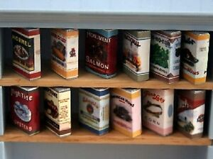 Dolls House Miniature 1/12th Scale 12 Assorted Cardboard Food Packets D500