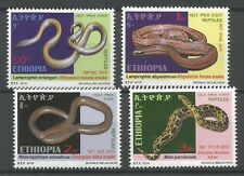 Ethiopia Complete Set of 4 MNH / ** 2016 Fauna Reptiles Snakes