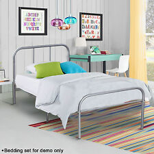 Twin Size Metal Platform Bed Frame Modern Home Bedroom Furniture Headboard Steel