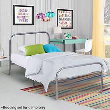 Twin Size Metal Platform Bed Frame Modern Home Bedroom Furniture Headboard Steel