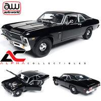 "AUTOWORLD AMM1178 1:18 1969 CHEVROLET NOVA BLACK ""MCACN"" CLASS OF 1969"