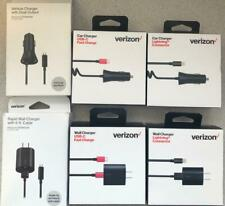 New OEM Verizon Wall & Car Charger Fast Charger for Micro USB/ USB-C / Lightning