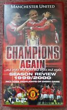 Man Manchester United official VHS Video Champions Again Season Review 1999/2000