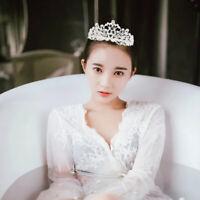 Wedding Bridal Princess Crystal Prom Hair Tiara Crown Veil Headband Peacock Comb