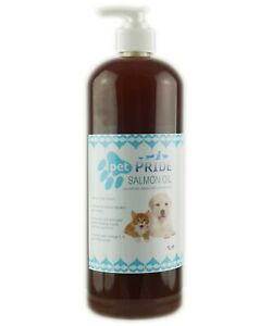 Salmon Oil Dogs Cats Ferrets 100% Pure High in Omega 3 With Pump Pet Pride 1L
