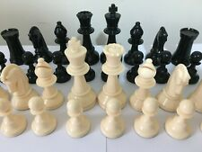 Vintage Set of Weighted Plastic Chessmen K=9 cm