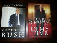 GEORGE W BUSH AND DICK CHENEY SIGNED PRESIDENTIAL SET