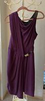 Rag And Bone Dark Purple Silk Dress Size 2 EUC