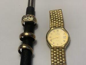 9 ct yellow gold diamond ring used