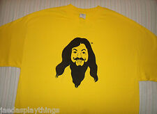 LOVE GURU T Shirt Sz XL Mike Myers Movie Promo Dated His Karma Is Huge Yellow