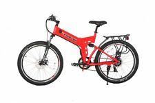 X-Treme 24 Volt X-Cursion Elite Folding Electric Bike Lithium Powered (Red)