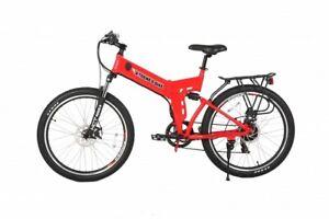 X-Treme 24 Volt X-Cursion ELITE Folding Electric Bike  Lithium Powered (Red)