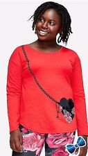 Justice Girls Size 18 Plus Purse Pocket Long Sleeve Tee NWT