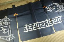 Cotton Noren / Doorway Curtain / Zen Temple / Japanese / Vintage