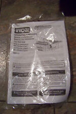 "Ryobi WS7211 7"" Tile Saw Parts -- instructions"