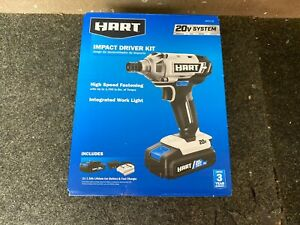 Hart HPID01B 20-Volt Cordless Impact Driver Kit, 1.5Ah Lithium-Ion Battery NEW