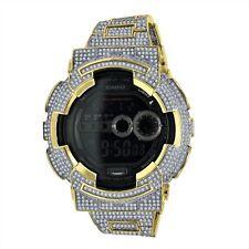 2 Tone Real Authentic Casio G Shock Custom Simulated Diamond GA-100-GD 100 Watch