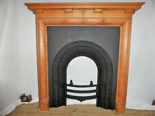 Victorian Style Cast Iron Fire Insert with Oak Wood Surround.Ideal to Paint up!
