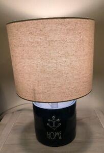 "Rae Dunn Home Lamp Navy Blue 15"" Anchor Beach House Genuine New"