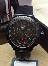 Tag Heuer Formula 1 Chronograph CAU111A Black & Red Dial BOX AND PAPERS 2016
