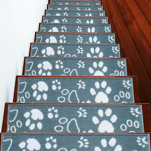 Stair Treads Paw Collection Contemporary and Soft Stair Treads, Pack of 4/7/13