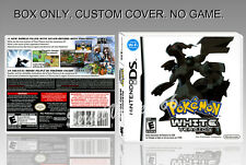 NINTENDO DS : POKEMON WHITE VERSION. FR/ENGLISH. COVER + BOX. (NO GAME).