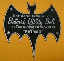 CUSTOM 1966 BATGIRL UTILITY BELT DISPLAY NAME PLATE BATMAN TV SERIES