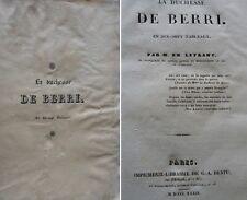 la Duchesse de Berri en dix sept tableaux 1832 Lefranc Berry duc Bordeaux  Dentu