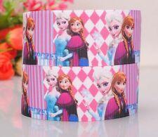 """Grosgrain Ribbon 7/8"""" Frozen Princess Elsa Anna (Combine Shipping)  USA SELLER"""