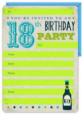 16 x 18th Birthday Party Invitations with Envelopes...