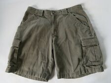 Columbia Mens Solid Dark Taupe Casual Cargo Outdoor Khaki Chino Shorts Size 34