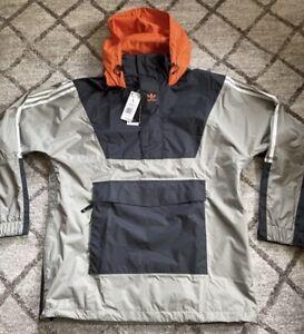 Adidas Anorak 10K Snowboarding Jacket Coat Waterproof Grey Men's Sz Large FJ7501