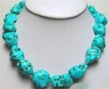 Fashion natural 13x18mm Turkey Turquoise Necklace 18'' AAA
