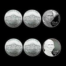 2011  2012 P+D+S Jefferson Nickel Sets ~ Proof & PD from Original Mint Set