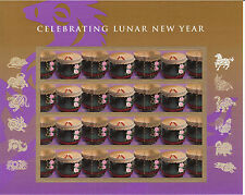 CHINESE NEW YEAR STAMP SHEET -- USA #4846 FOREVER 2014 YEAR OF THE HORSE