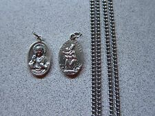Sacred Heart of Jesus and Our Lady of Mount Carmel Medal on 27 inch chain NEW