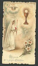 Estampa antigua Primera Comunion Andachtsbild Santino Holy Card Santini