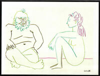 PABLO PICASSO 1955 LITHOGRAPH w/COA. invest in listed VINTAGE Picasso RARE ART